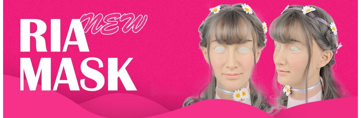 Roanyer female silicone crossdresser mask-Ria
