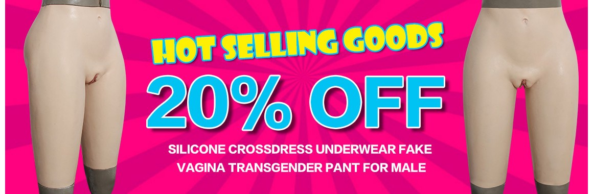silicone crossdress underwear fake vagina