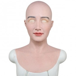 silicone female mask full head realistic mask for crossdressing transgender costume cosplay--Mia