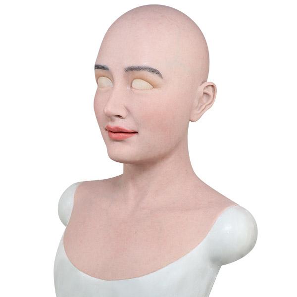 silicone female mask full head realistic mask for crossdressing transgender costume cosplay--Mia