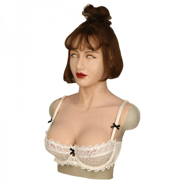 crossdressing breast with female face silicone realistic transgender breast form artificial boobs-A2
