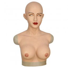 crossdressing breast with female face silicone realistic transgender breast form artificial boobs-A3