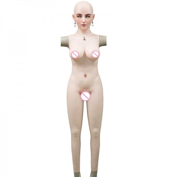 crossdress silicone breast forms Transvestite boobs CD prosthesis transvestites silicone tight dress false vagina