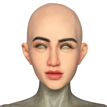 silicone female mask full head realistic mask for crossdressing &Halloween transgender costume cosplay