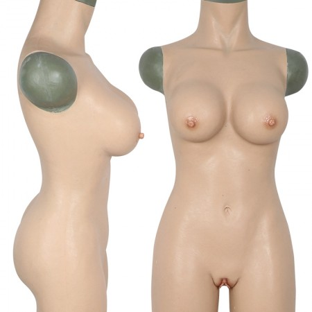 crossdresser silicone transgender suit with silicone breast and fake vagina highly realistic boobs
