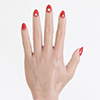 Red nails  + $10.00