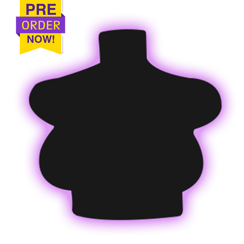 Pre-Order G cup short breast form-East West breast shape