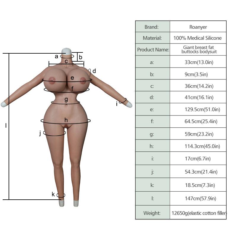 Giant Breast Fat Buttocks Bodysuit