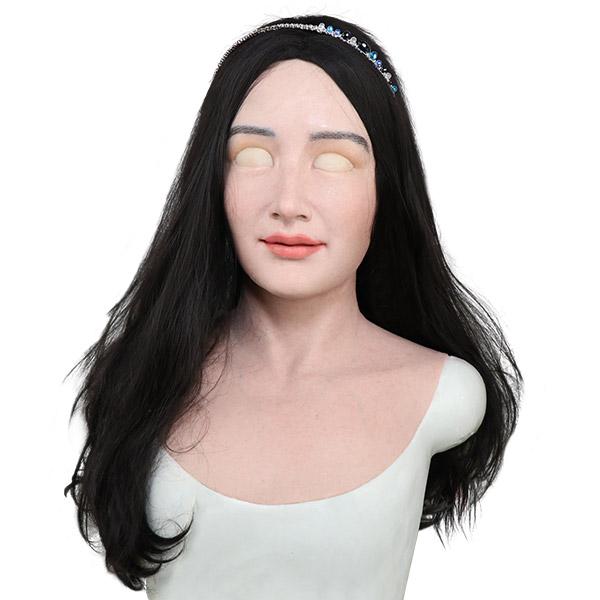 Silicone female mask for men-Mia