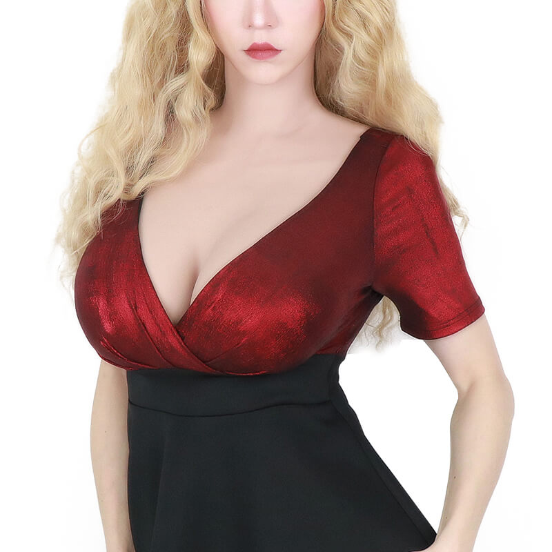 G Cup Breast with Removable Nipples
