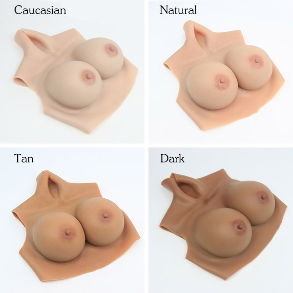 silicone breasts G cup - normal size