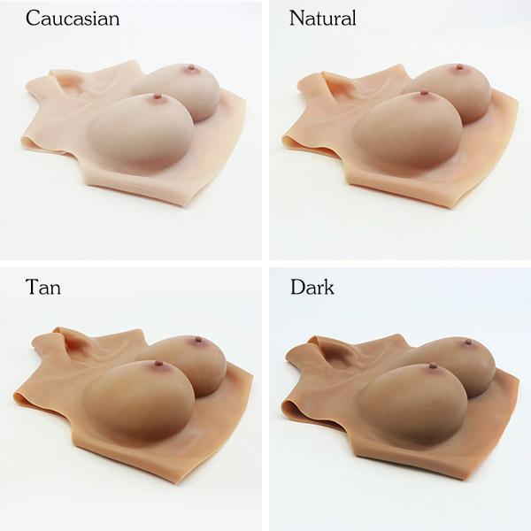 Silicone E cup breast forms