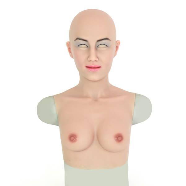 Mia  realistic crossdresser silicone mask with boobs