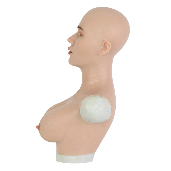 Roanyer female silicone crossdresser mask-May mask with breast