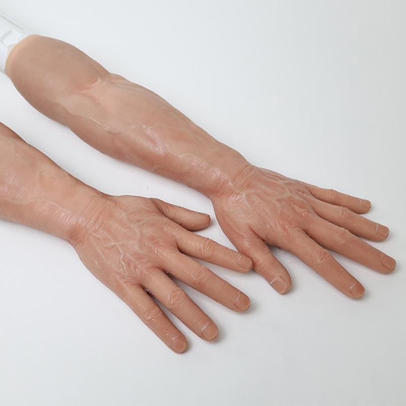 Realistic Silicone Male Gloves