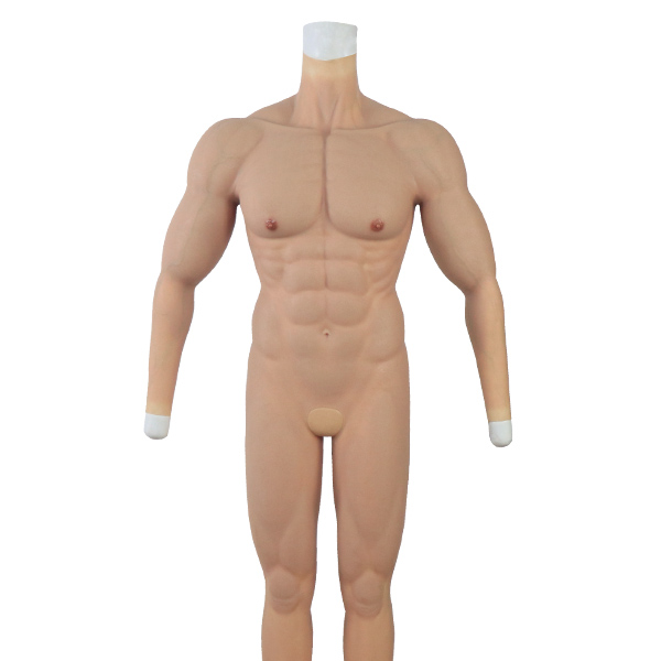 Muscle suit with anal hole and front hole