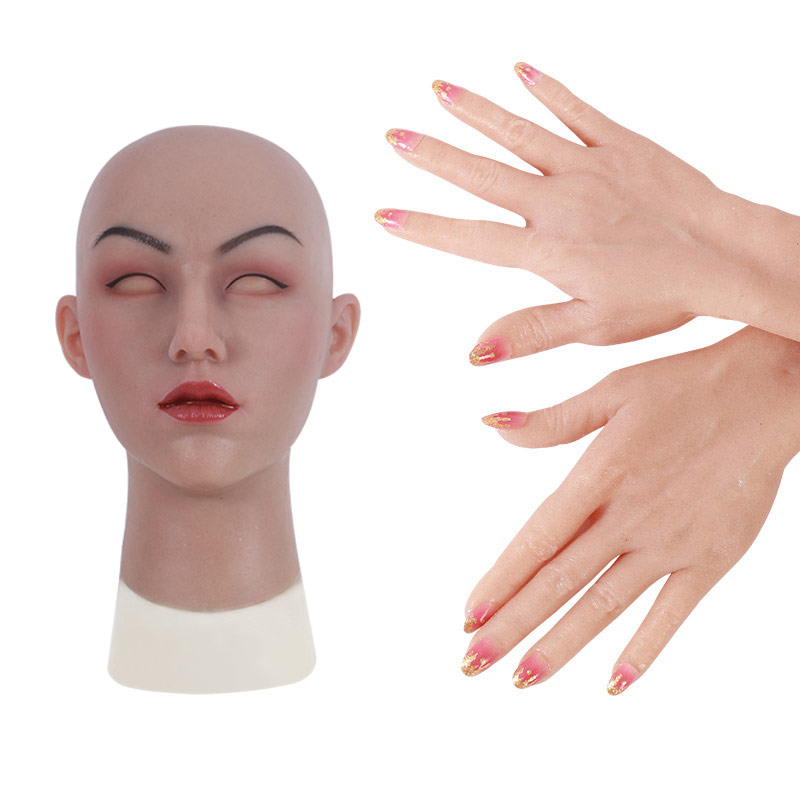 May Realistic Silicone Mask + Realistic Silicone Female Gloves