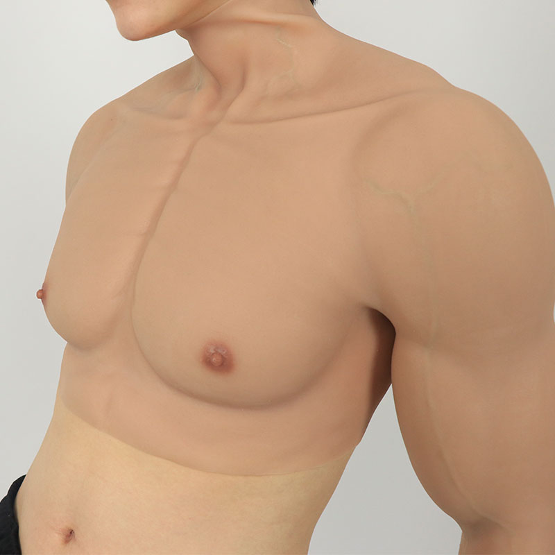 Muscle chest with muscular arms