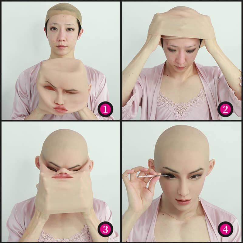 Roanyer female silicone crossdresser mask-Ann mask
